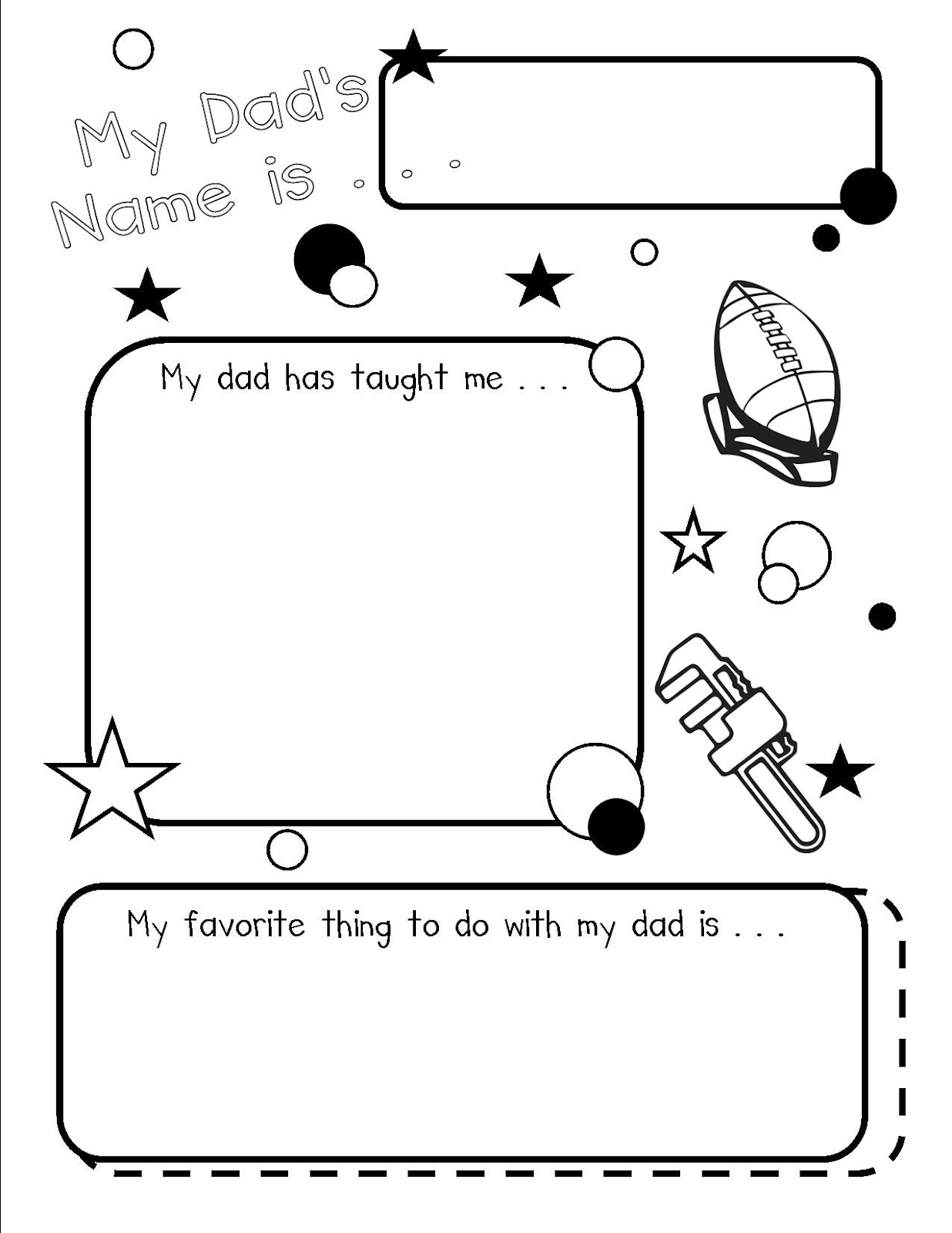 Blooming Kiddos Father S Day Book Project