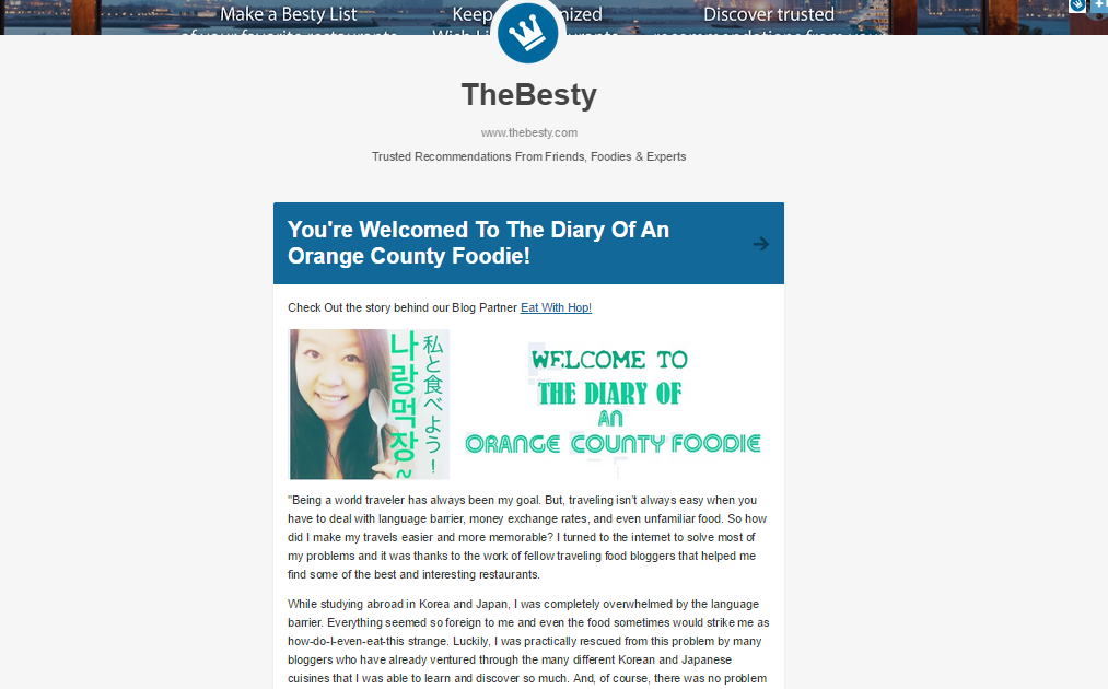 I'M FEATURED ON THE BESTY BLOG!
