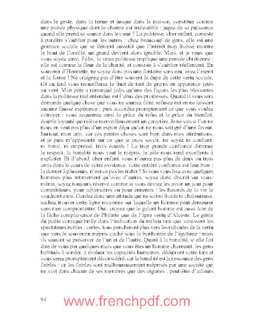 Roman: Le Lys dans la Vallée en pdf par Honoré de Balzac