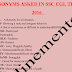 Compilation of Synonyms asked in SSC CGL 2016 Tier-1 Exam PDF Download