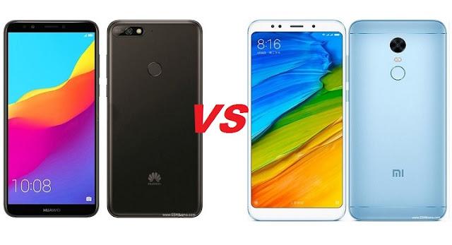 Huawei Y7 2018 VS Xiaomi redmi 5 plus