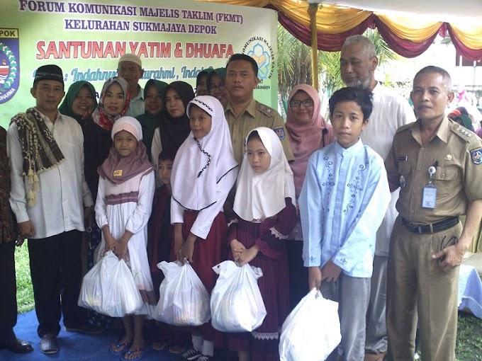 FKMT Sukmajaya Santuni 325 Anak Yatim dan Duafa