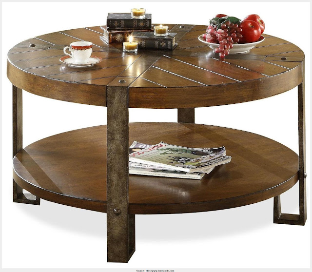 Fantastic Wood Round Coffee Table