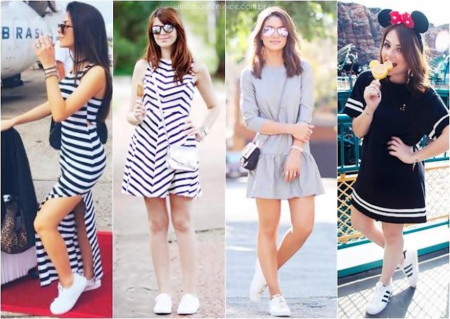 Combinação preferida: vestido e tênis + brinde de compra na Loja ...
