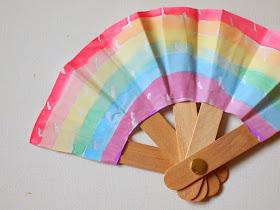 folding popsicle stick fan craft