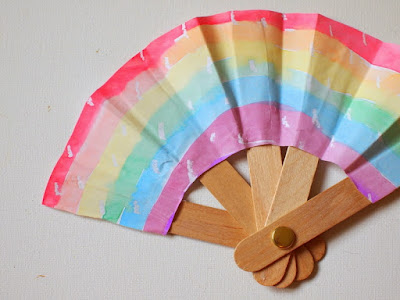 folding popsicle stick fan craft