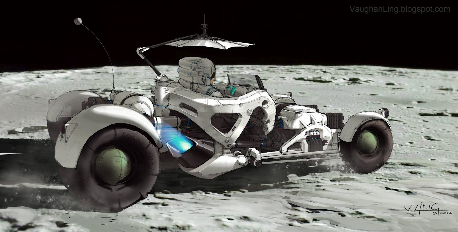 NASA Moon Buggy Auto CAD Drawings (page 3) - Pics about space