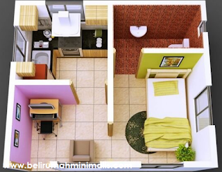 Desain dan Denah Rumah Minimalis Sederhana Type 21 1