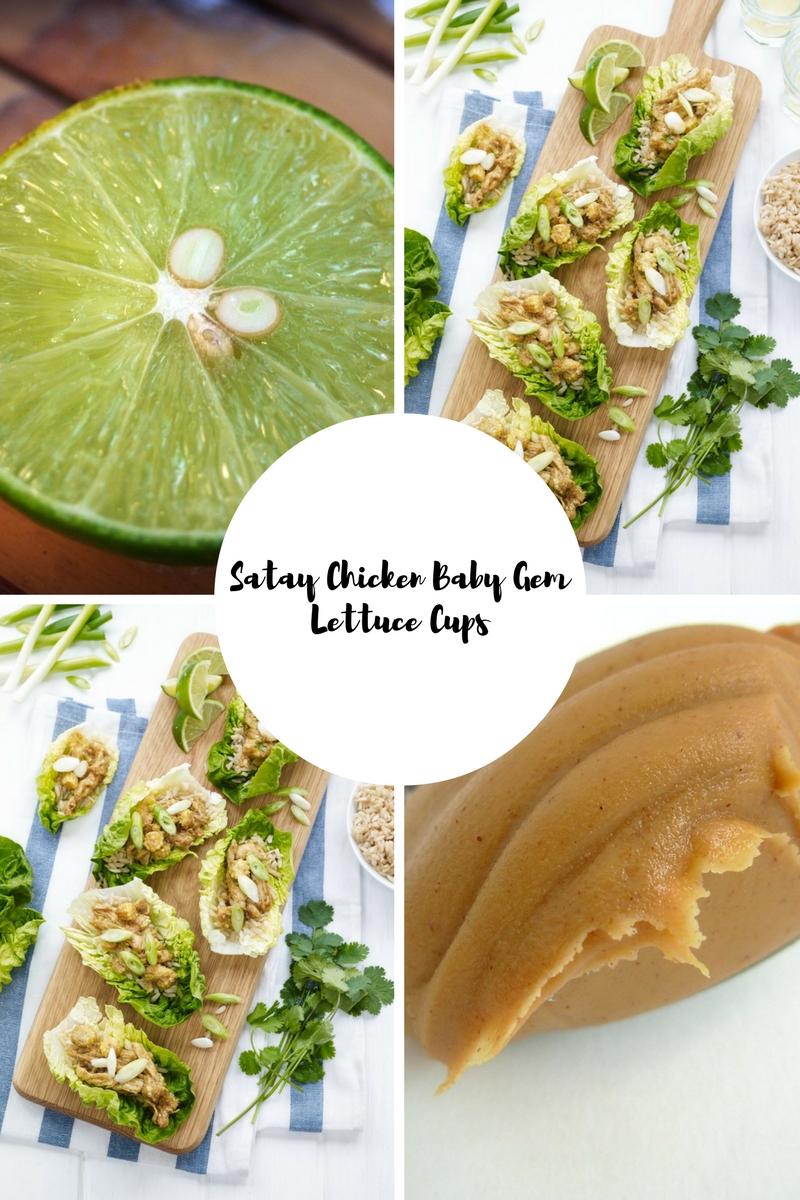 Satay Chicken in Baby Gem Lettuce Cups ...