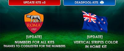 PES 2013 Update Kits 16/17 Boca Juniors, South Korea, AS Roma, Australia by DEADPOOL
