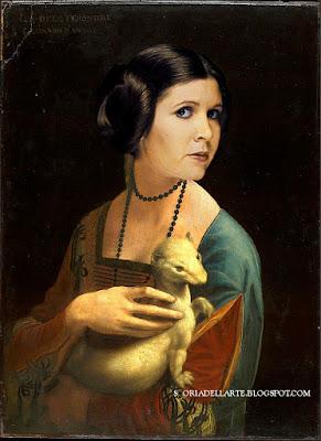 Omaggio a Carrie Fisher-Principessa Leila con l'ermellino-Leonardo da Vinci