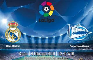 Prediksi Real Madrid Vs Deportivo Alaves 4 Febuari 2019