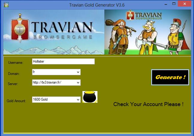 Travian Gold Generator V3 6