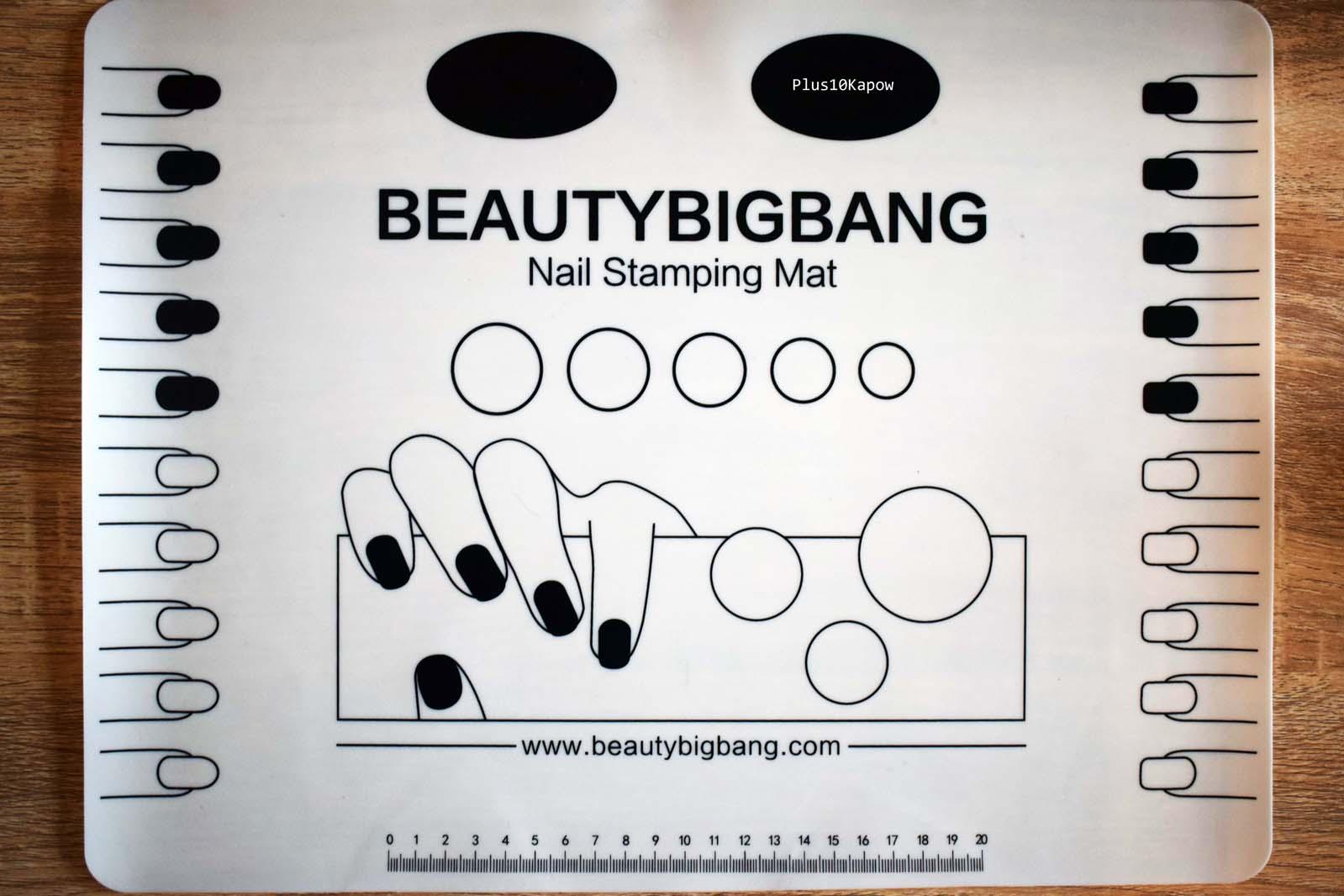 Plus10Kapow: Beauty Big Bang Nail Art Mat and Clear Stamper