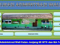 Download Aplikasi Administrasi Wali Kelas Jenjang MI MTS dan MA Format Excel