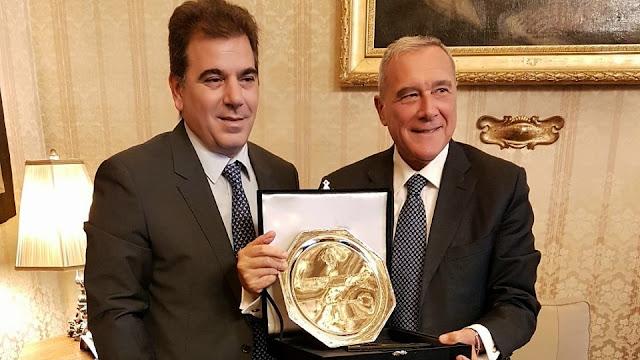 Ritondo se reunió en Roma con el senador antimafia de la República Italiana
