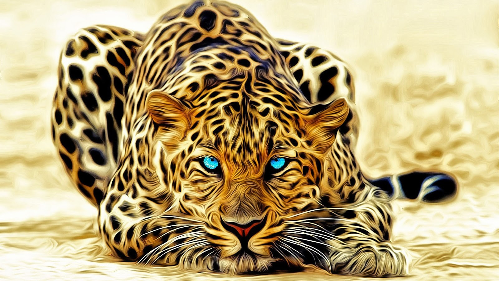 Fantasy wildlife abstract animal creative design art hd - Animal 1920x1080 ...