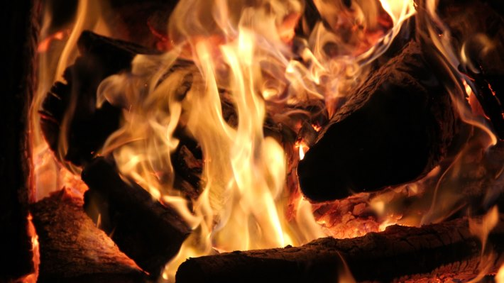 Wallpaper 2: Hot Embers and Wood Fire