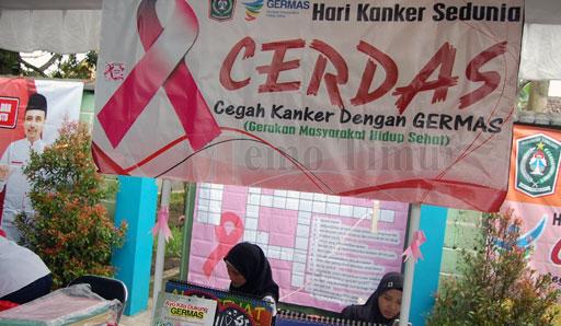 Peduli kanker di acara Tilik Desa Kebonagung