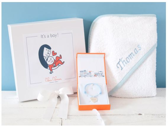 PERSONALIZED MUMMY & BABY BOY BOX by Merci Maman