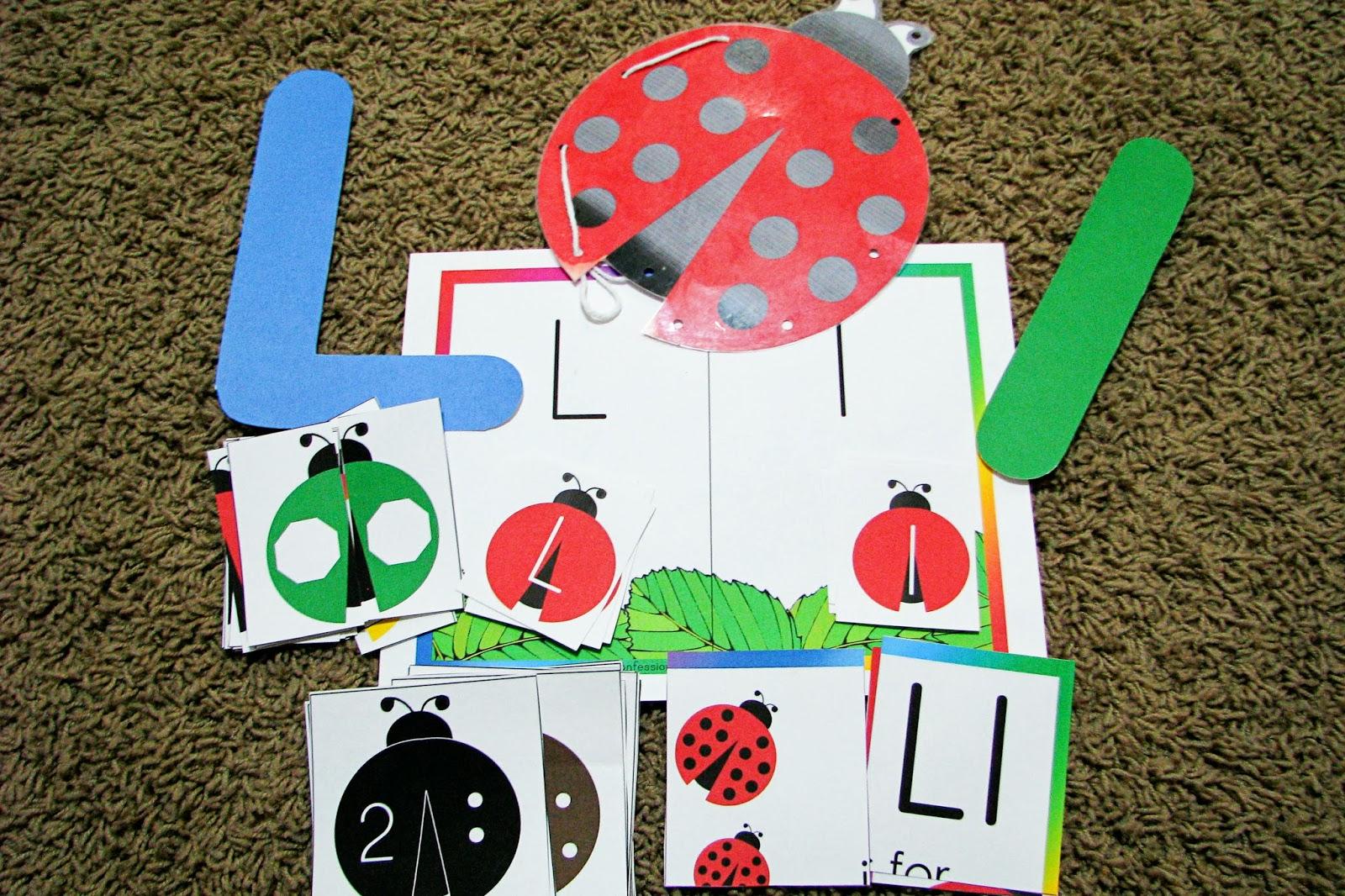 Mommy S Little Helper Letter L Ladybug Preschool Theme