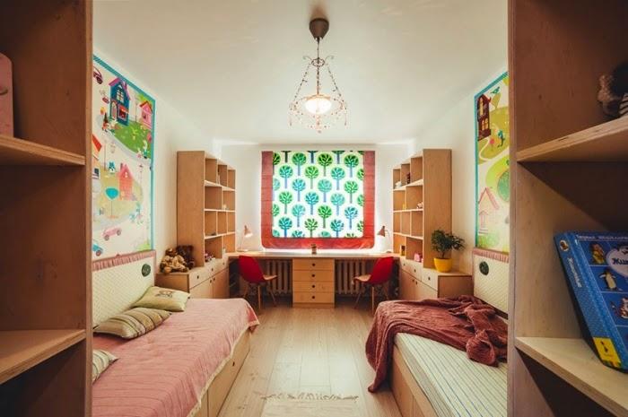 cuarto para dos jóvenes