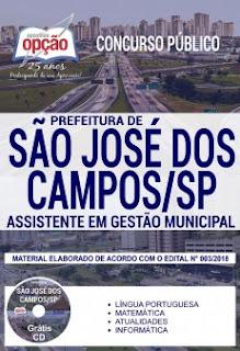 Apostilas da Prefeitura de São José-SP - Assistente em Gestão Municipal