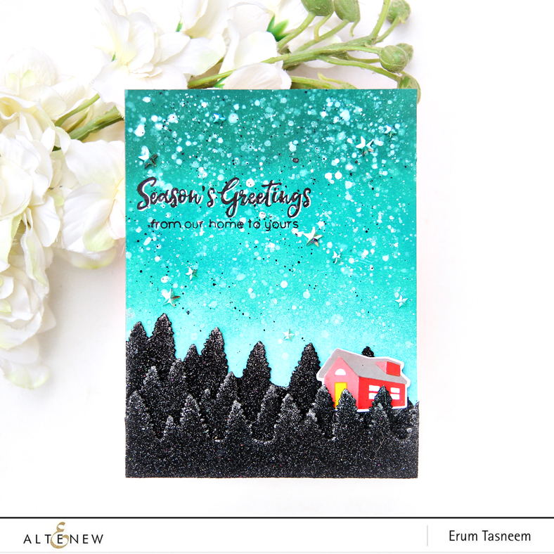 Altenew Creative Edges: Evergreen Die and From Our Home Stamp Set | Erum Tasneem | @pr0digy0