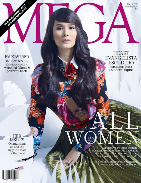 Heart Evangelista Escudero Mega March 2016 Cover Girl