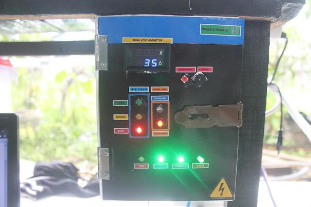 Gambar 4 10 Indikator Pompa 1, Pompa 2, dan Valve Pada Panel Menyala