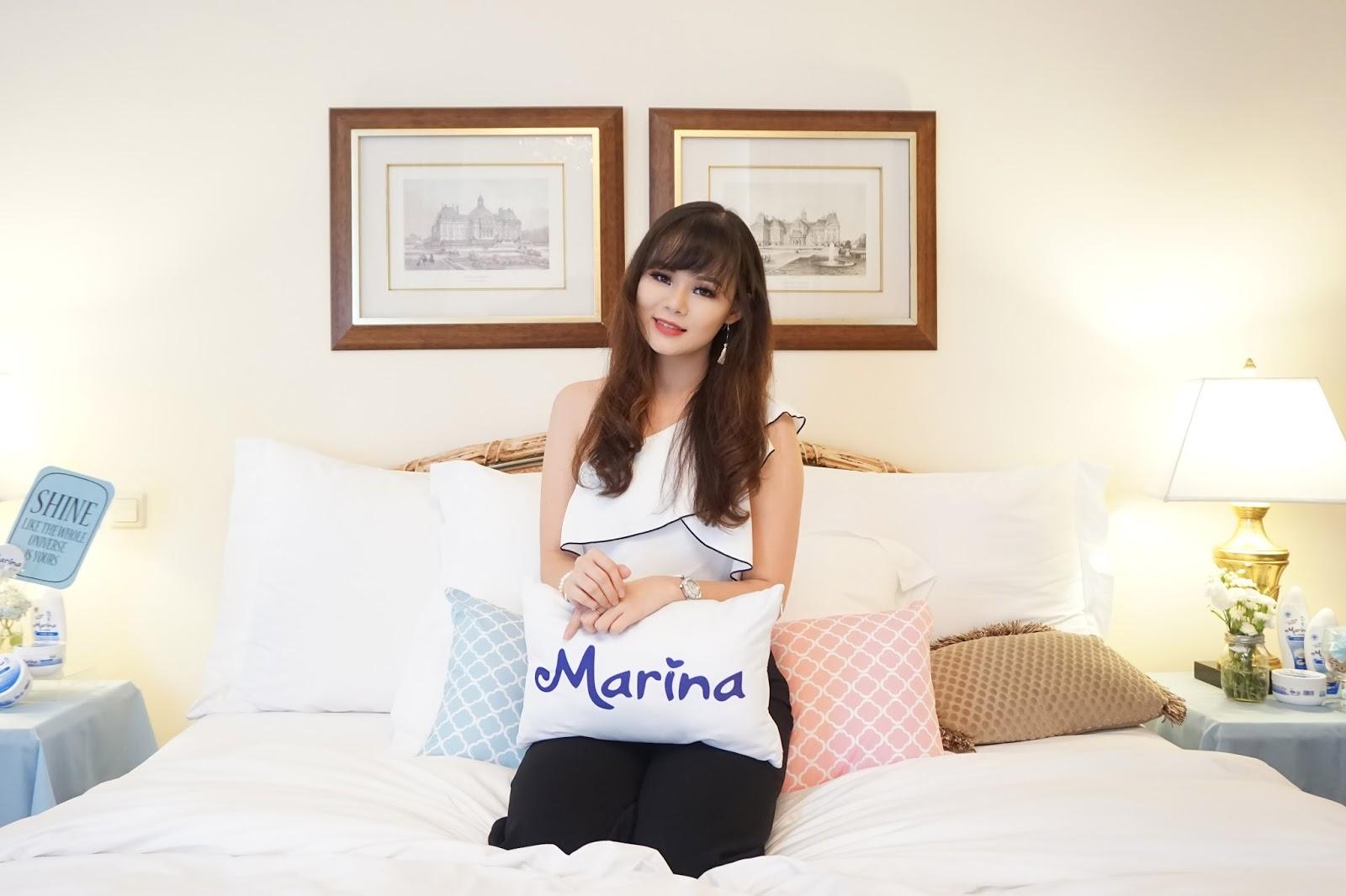 marina, marina body scrub, marina body lotion, review, product review, marina lotion, marina scrub, kulit mulus cerah, body care, jean milka