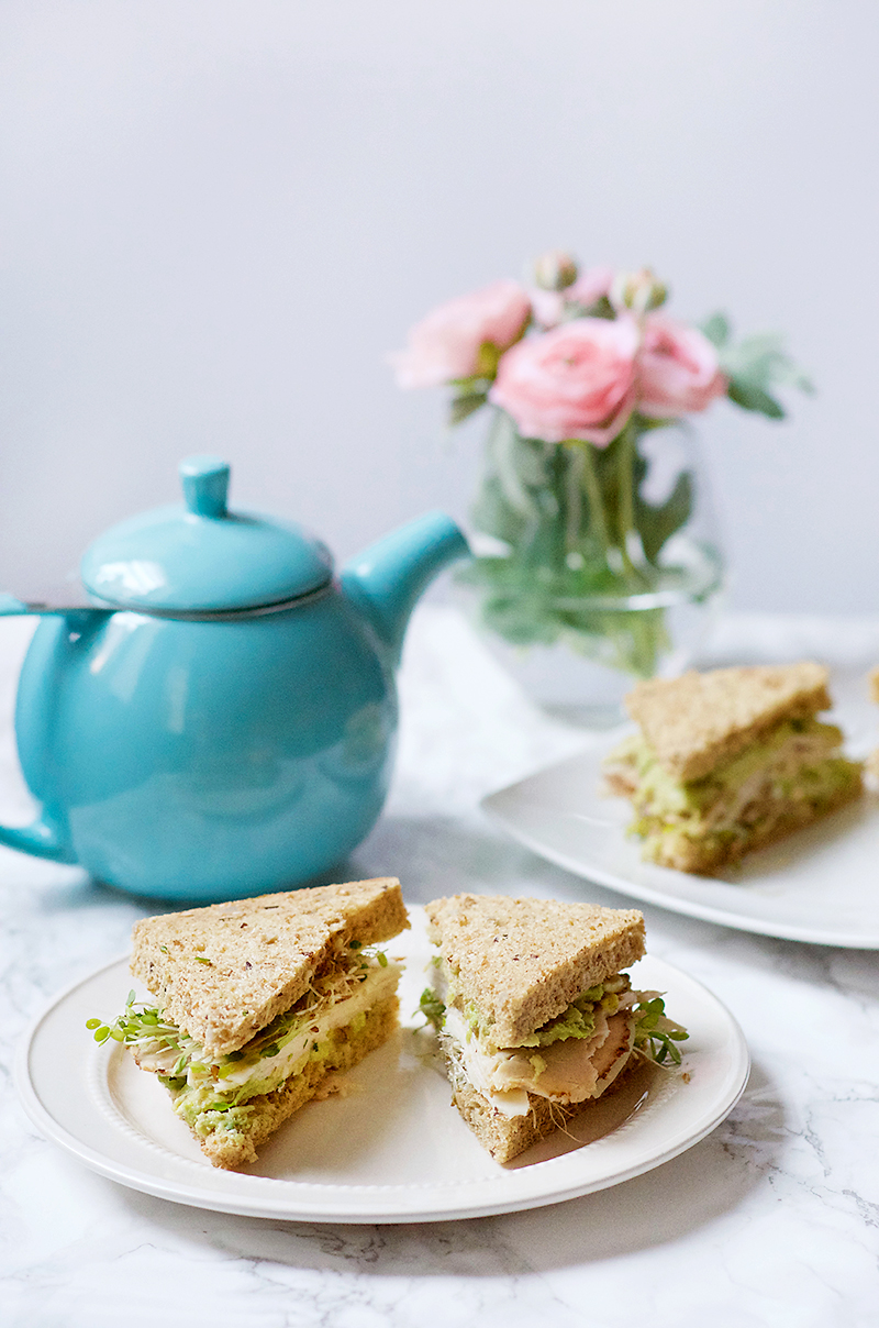 Turkey Sprout Tea Sandwiches - Obsessive Cooking Disorder