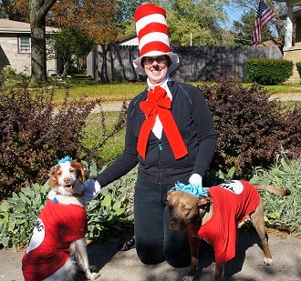 Dot, Taco and I dressed for Halloween 2014