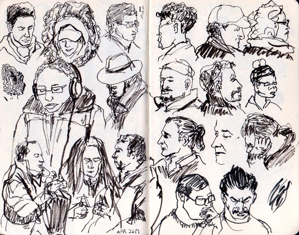 another portrait sketches april 2017
