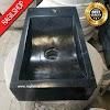 Wastafel marmer tulungagung kotak hitam asli batualam minimalis 20 x 40cm