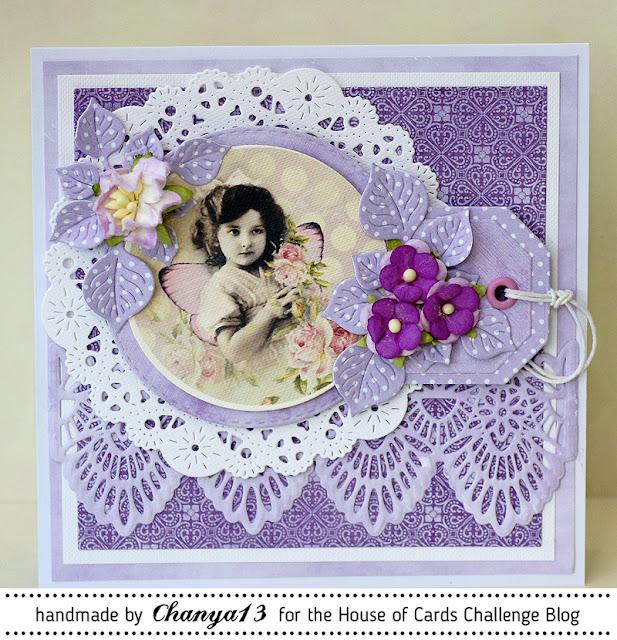 142. Fioletowa kartka dla kobiety