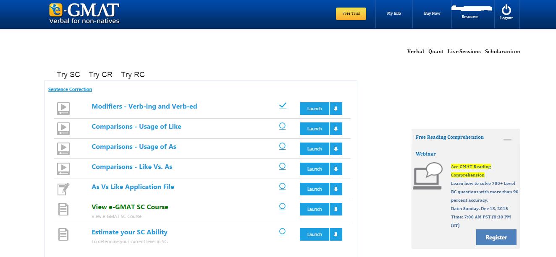 Administração e Organização: Avaliação do Curso E-GMAT