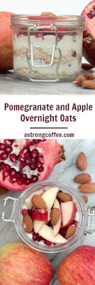 For a filling breakfast overnight oats are fantastic. Here oats are combined with yoghurt, pomemgranate, gala apples and almonds
