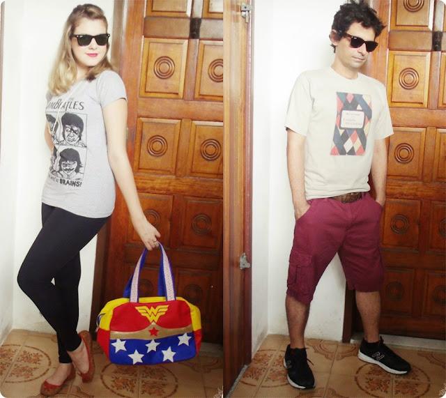 urbano e retrô, blog de casal, look de casal, jell e marcelo, blog retrô