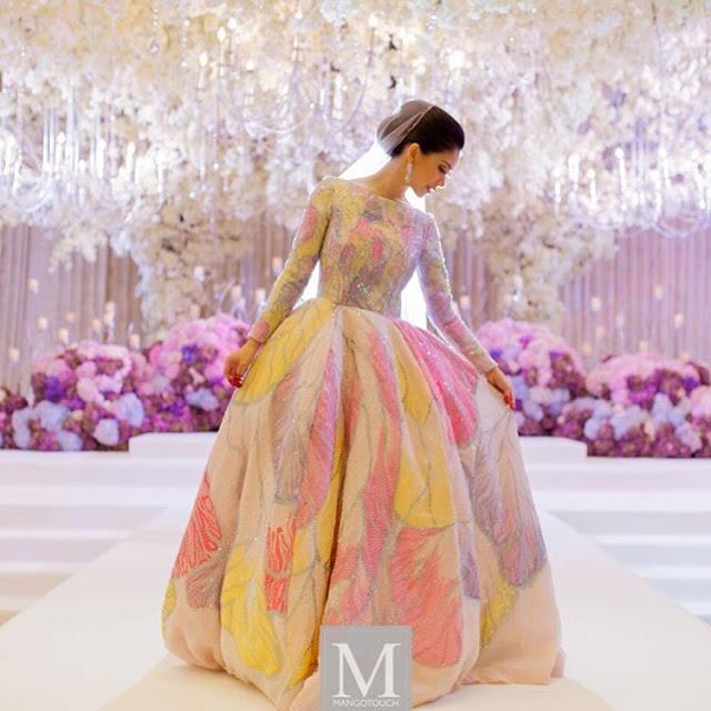 Baju Gown Kembang Anzalna Memang Sempoi Wedding Dress