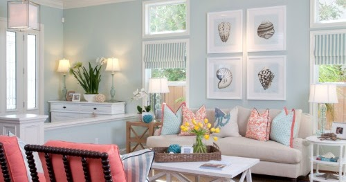 Modern Light Blue Amp White Coastal Interiors With Pops Of