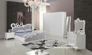 white bed room set classic modern italian design for home french louis racoco from indonesia furniture supplier
