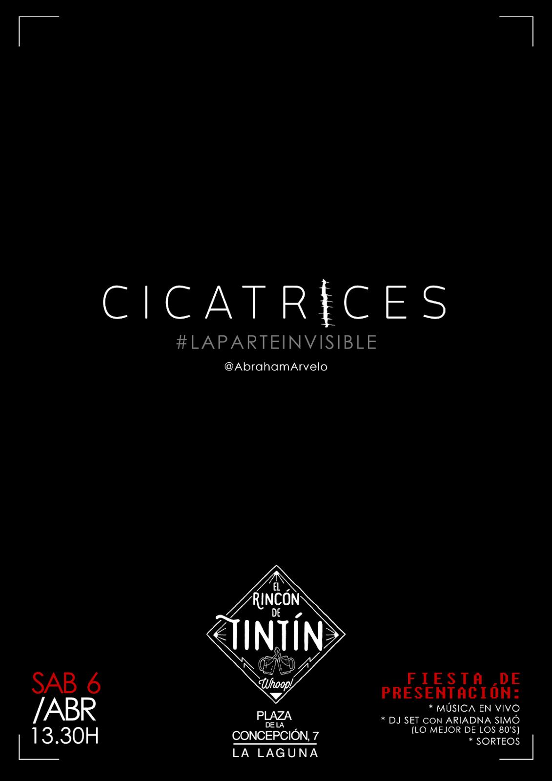 """6 de abril, """"Cicatrices #LaParteInvisible"""" en el Rincón de Tintín"""