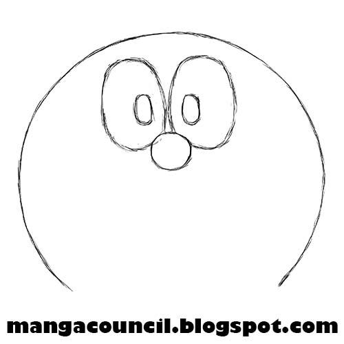 Cara Menggambar Sketsa Doraemon