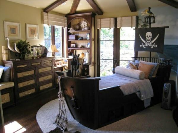 habitación tema pirata