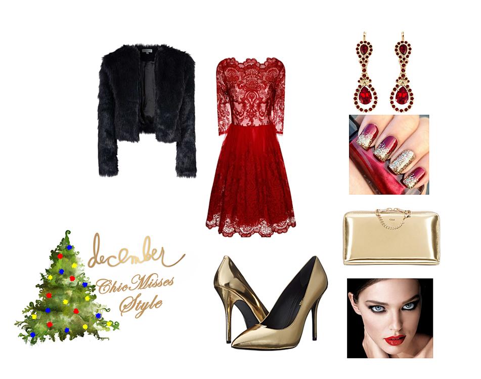 57145948919c 1. outfit je elegantný. Vhodný na večeru či večierok. Červená čipka v  kombinácií so zlatou nikdy nesklame  )