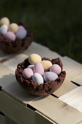 nid de Pâques, corn flakes , facile à faire , Pâques
