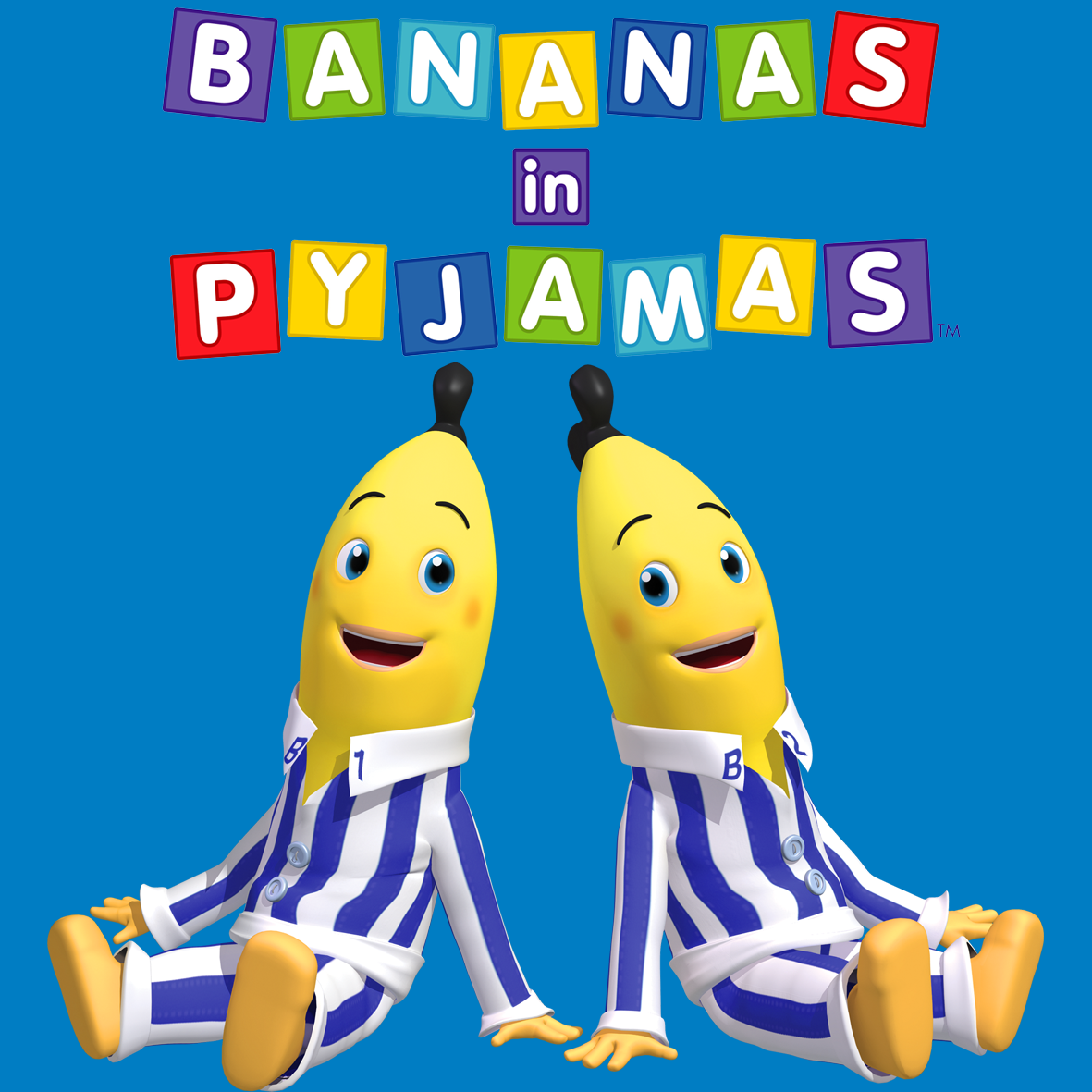 Bananas In Pyjamas Cake Template