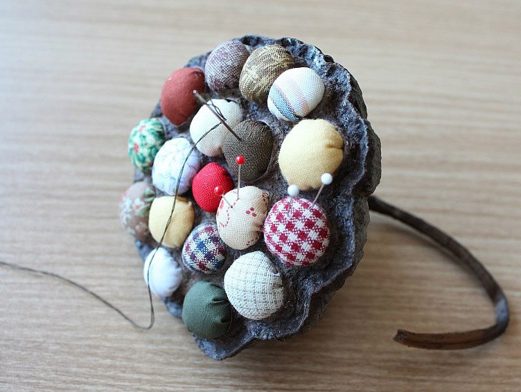 Pincushion of Lotus Seed Head. Игольница
