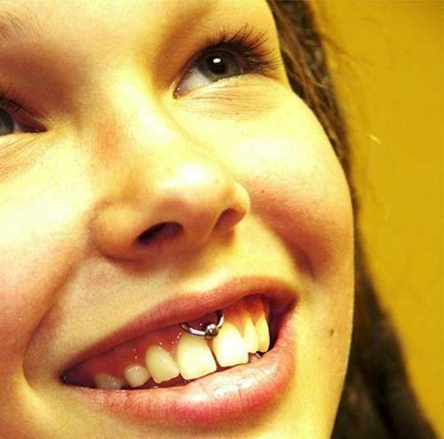smiley piercing tumblr